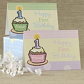 Personalized Birthday Cards for Girls - Baby's First Birthday