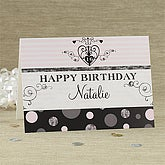 Girls Personalized Birthday Cards - 7491