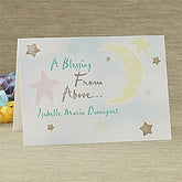 Blessing From Above© Personalized Greeting Card