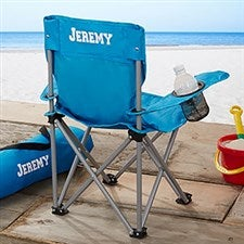 Kids Personalized Folding Chairs - Blue - 7497-B
