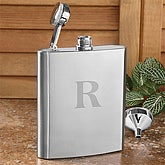 Personalized Stainless Steel Flask with Initial Monogram - 7529