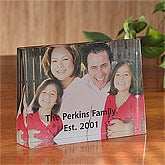 Our Family© Photo 3-D Crystal Keepsake