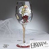 Bride To Be Swarovski Crystal Wine Glass  - 7556