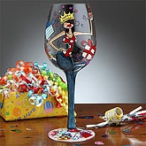 Happy Birthday Hand-Painted Wine Glass for Women - 7558