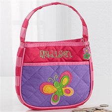 Girls Personalized Butterfly Purse & Butterfly Coin Purse - 7563