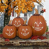 Personalized Jack-O-Lantern Halloween Pumpkins - 7566