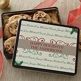 Personalized Cookie Tin - Family Is Forever - 7567