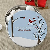 Cardinal Greetings© Personalized Gift Tin