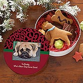 Dog-Gone Good© Personalized Photo Treat Tin