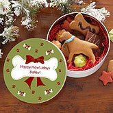 Personalized Dog Treat Tin for the Holidays - 7583