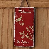 Personalized Welcome Signs - Sparrow - 7587