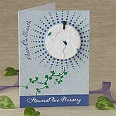 Personalized Peace On Earth Flower Seeds Ornament Christmas Card - 7592