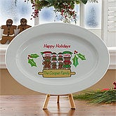 Gingerbread Family© Personalized Platter