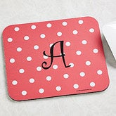 Personalized Mouse Pads - Polka Dots for Girls - 7620