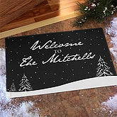 Personalized Holiday Doormats - Winter Snowscape - 7632