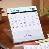 Personalized Desk Calendar - Changing Seasons - 7634