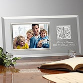 Floral Monogram© Personalized Reflections Frame