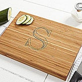 Personalized Bamboo Cutting Board - Chef's Monogram - 7659
