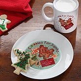 Personalized Cookies & Milk for Santa Plate & Mug - 7660