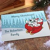 Personalized Holiday Doormats - Polar Bear Family - 7676