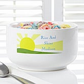 Personalized Cereal Bowls - Rise & Shine - 7689