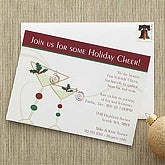 Holiday Cheer© Personalized Party Invitations