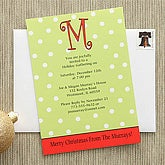 Dot To Dot© Monogram Personalized Party Invitations