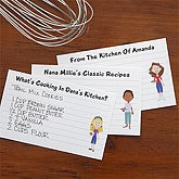 Personalized Recipe Cards - Family Characters - 4 x 6