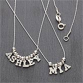 Personalized Name Silver Necklace - 7705