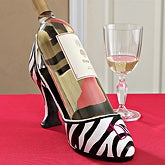 Monogram Wine Holder - Zebra Striped Shoe - 7709