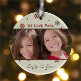 Personalized Photo Christmas Ornaments - Picture & Text - 7729