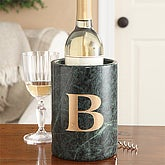 Personalized Marble Wine Chiller with Monogram - 7735