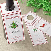 Personalized Holiday Wine Gift Tags - Season's Greetings - 7741