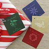 Holiday Greetings Personalized Christmas Gift Tags - 7750