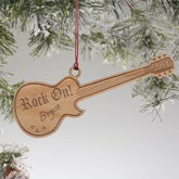 Personalized Guitar Christmas Ornaments - 7753