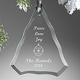 Personalized Glass Christmas Ornaments - Christmas Tree - 7788