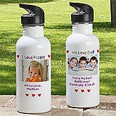 Personalized Photo Aluminum Water Bottles - 7801