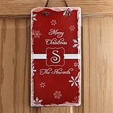 Personalized Holiday Wall Plaques - Winter Wonderland - 7809