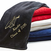 Personalized Graduation Blankets - Fleece Throws - 7811