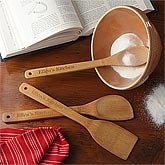 Personalized Bamboo Cooking Utensil Set - 7832