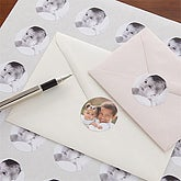 Baby Picture Personalized Photo Envelope Seals - 7858