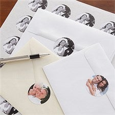 Personalized Photo Envelope Seals for Couples - 7860