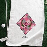 Personalized Ladies Golf Towel - Golf Pro - 7863