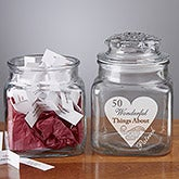 Personalized Romantic Love Notes Jar - 7875