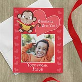 Personalized Photo Valentine's Day Cards - Bananas Over You - 7878