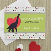 Boys Personalized Valentine's Day Cards - Dinosaurs - 7890