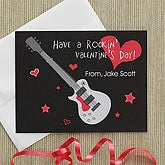 Kids Personalized Valentine's Day Cards - Rock Star - 7892