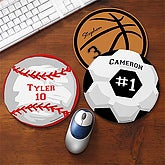 Personalized Sports Mouse Pads - Baseball, Basketball, Golf, Soccer, Volleyball, Tennis - 7900