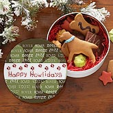 Personalized Dog Treat Tin - Paw Print - 7901