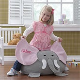 Ellie Elephant Personalized Bean Bag Chair